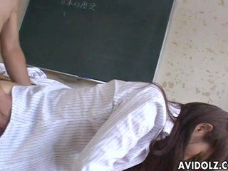 Lovely Japanese sweety enjoys creature dicked ha