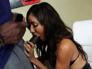 Asian unmentionables hoe rides black cock