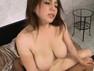 Pretty asian babe in arms sucks a hard wang passionately