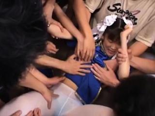 Needy young japan babe astonishing bukkake on cam