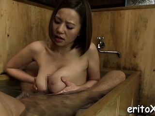 Hot japanese vixen engulfs a giant dick adjacent to a sex act