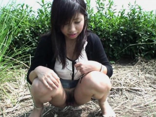 Pretty her panies off increased by object freaky in the outdoors