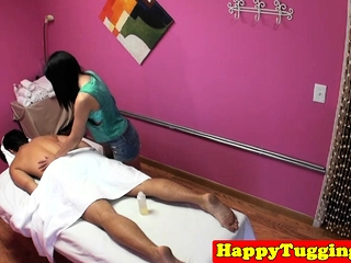 Asian masseuse gets Victorian pussy fucked