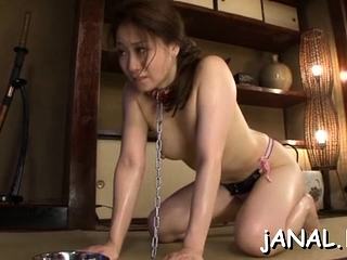 Sweet asian college babe endures cock in both snatch with the addition of ass