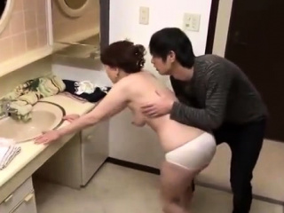 Doggystyle sweet Japanese pussy panties