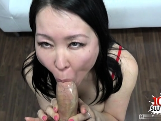 Big tits pornstar sling with cum on tits