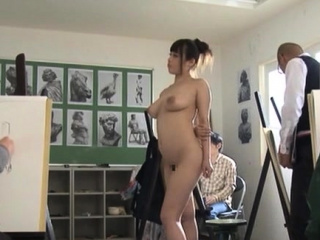 In the buff busty nipponese diva Rion Nishikawa commiserate with fucks pussy