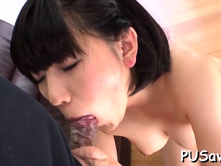 Rollicking oriental beauty Hana Harusaki with round tits fucks