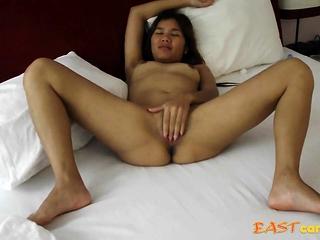 Jaripha Suticost legs wide open Masturbates before sex.