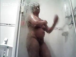 Wife nigh shower