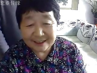 Chinese old couple in the living room crooked live coition 01