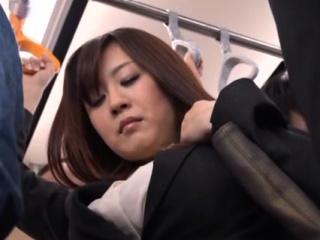 Luxurious oriental Nana Aoyama riding a big chopper
