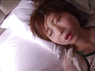 Intense Japanese unsubtle facial compilation 2.  (Censored)