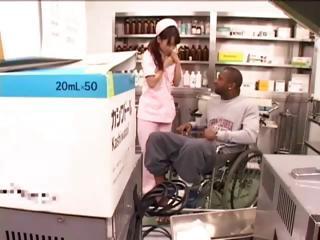Kawaii nurses have a go the best bedside manner for big black boners