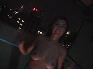 Evening fuck on the balcony