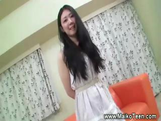 Slutty asian teen buccaneering for defy