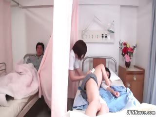 Sexy Japanese nurse gives a if it should happen some part3