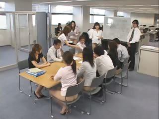 Cute real asian secretaries are working part6