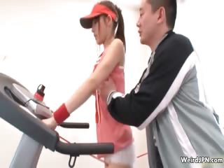 Japanese fitness instructor groping
