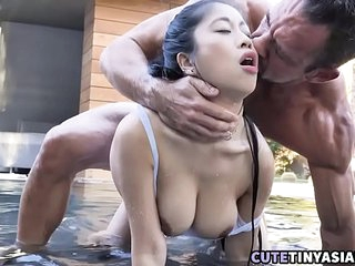Big Tits Asian Fucked By Muscle Swim Instructor