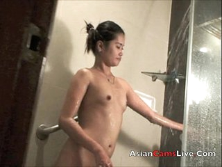 Asian FilipinaCamsLive.Com babe in shower sexy nude hot ass