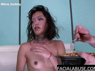 Asian throat slut totally humiliated