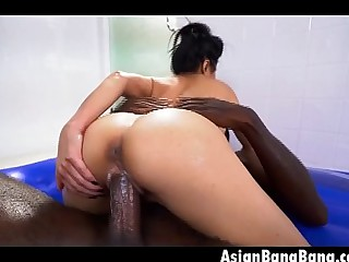 Asian Jackie Lin Sucking And Riding Dat Huge Black Dink