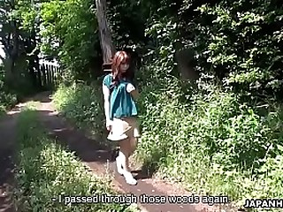 Super Asian hiker gets life and fucked to a creampie