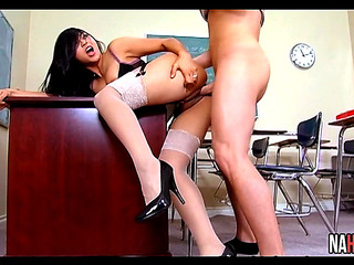 Movie Scene porno in HD Oriental In Hot Underware Copulates In Math Class Mika Tan